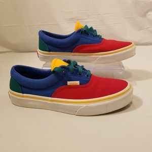 VANS kids/youth primary color sneakers size 3 1/2